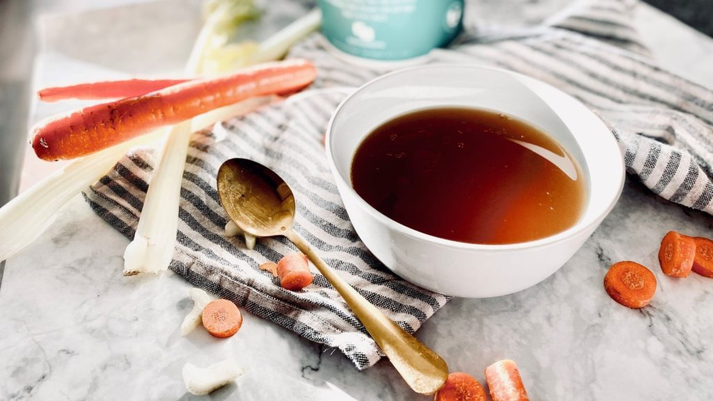 Bone Broth is a food that contains collagen